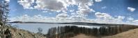 Panorama du lac gelé.
