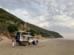 Grande plage de sable.